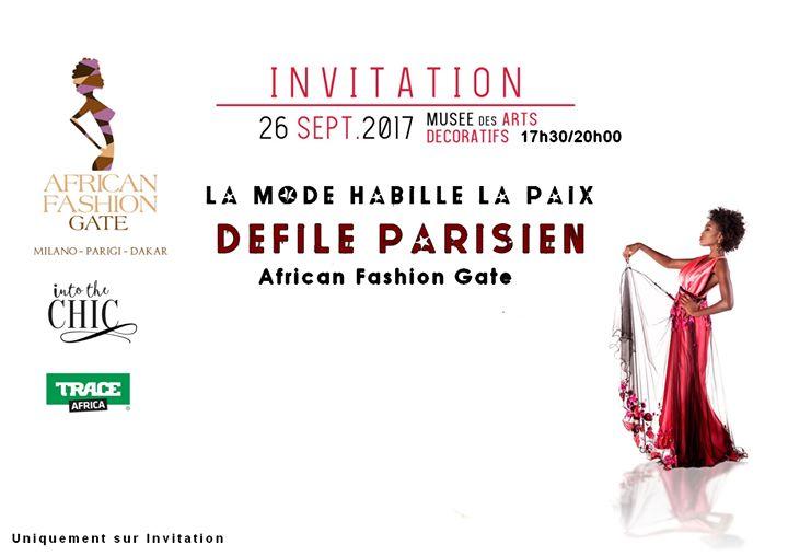 """MARTEDI 26 SETTEMBRE 2017 L'evento di alta moda internazionale """"La Mode Habille la Paix""""…"""